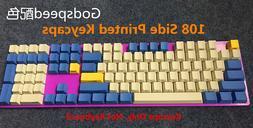 104 Key Godspeed Keycap Set Thick PBT Key Caps for Cherry MX
