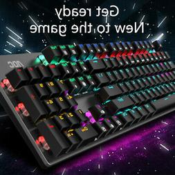 104 keys gaming mechanical wired keyboard usb