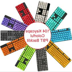 104 Keys PBT Keycaps DIY Colorful Replacement for Mechanical