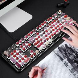 104 Keys USB Wired Mechanical Switch NKRO Game Lipstick Keyb