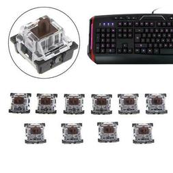 10Pcs 3 Pin KeyCap Brown Mechanical Keyboards Switch for Che