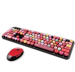 1Set Charming Colorful Wireless Bluetooth Mechanical Keyboar