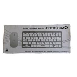 Qisan 2.4G Mini Wireless Combo Keyboard Mouse Black Silver,