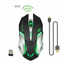 2.4GHz wireless Gaming Mouse Rechargeable With Breathing Lig