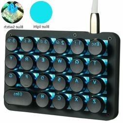 23 Programmable Key Mechanical Keyboard Gaming Keypad Blue S