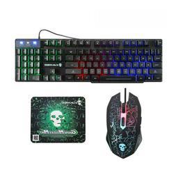 2400 DPI Gaming Keyboard & Mouse Combo Rainbow RGB Backlit L