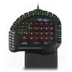 AULA 30 Programmable Keys One Handed Merchanical Gaming Keyb