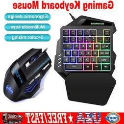 35 Keys One Handed Mechanical Gaming Keyboard Keypad Optical