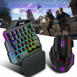 35keys one handed game keyboard mouse keypad