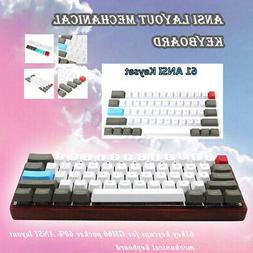 61 Key ANSI Layout OEM Profiles Thick PBT Keycaps For 60% Me