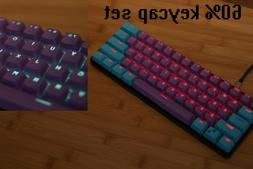 61 Key PBT Thick 60% Keycaps Joker ANSI Layout for Mechanica
