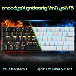 61 Keys Wireless Bluetooth Wired Mechanical Gaming Keyboard