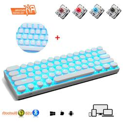 RK61 Wireless Bluetooth Gaming Keyboard LED Backlit USB Punk