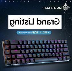 68-Key Mechanical Keyboard RGB Backlit Wired Gaming Keyboard