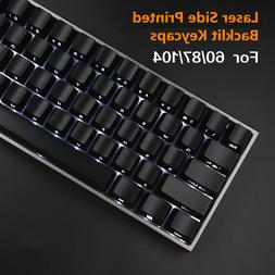 87/104 Keys Backlit Keycap Laser Side Printed Key caps for C