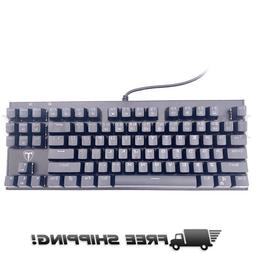 87 Key Water Resistant Mechanical Gaming Keyboard Mouse Comb