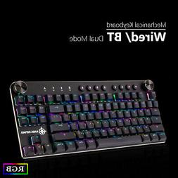 87 Keys Wireless/Wired PC Computer Gaming Keyboard Mechanica