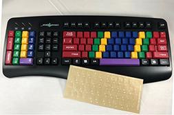 Bundle: LessonBoard Pro USB Wired Blank Keys Computer Keyboa
