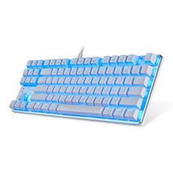 EagleTec KG061-BR Blue LED Backlit Mechanical Gaming Keyboar