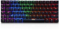 Ajazz AK33 Geek RGB Mechanical Keyboard, 82 Keys Layout, Blu