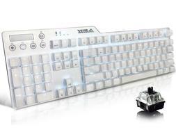 Ajazz AK35i Ergonomic Gaming Keyboard with 104 Full Anti-gho