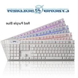 Ajazz AK20 Wired PC Keyboard 104 Keys Gaming Keyboard with B