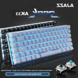 Ajazz AK33 Backlit USB Wired Gaming Mechanical Keyboard-Offi