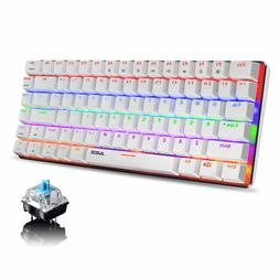 AK33 Rainbow LED Backlit USB Cable Gaming Mechanical Keyboar