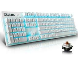 Ajazz AK52 Wired Mechanical Gaming Keyboard with 104 Keys/Ba