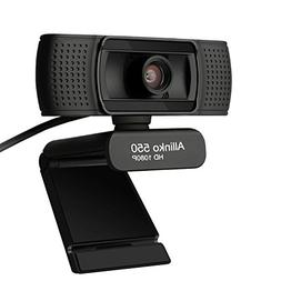 Allinko 550 Webcam 1080P Full HD, USB Web Camera with Microp