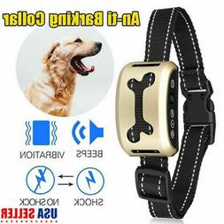 Anti Barking Collar Rechargeable Dog No Bark Waterproof Huma