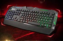 Mouse Keyboard Set LED Wired Rainbow Gaming Keyboard Mouse Set Compatible with 2000 // XP//Vista // Win7 // Win8 // Vista Mac OS Lyperkin Wired Keyboard S13 Backlit Gaming USB Keyboard Mouse Set Ect
