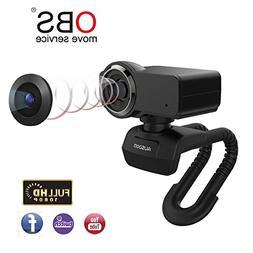 AUSDOM Full HD 1080p Webcam, OBS Live Streaming Webcam, Comp