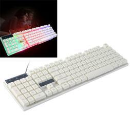 Backlit Mechanical Gaming Keyboard Wired USB Illuminated Erg
