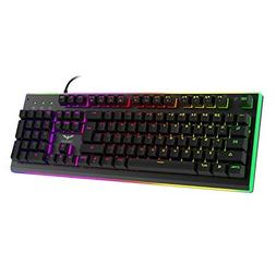 HAVIT RGB Backlit Wired Membrane Gaming Keyboard, Mechanical