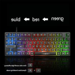 Clear Wired Accessories 87 Keys Keyboard Mechanical Home Bac