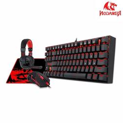 Redragon Combo Mechanical Gaming Keyboard Mouse And Mouse Pa