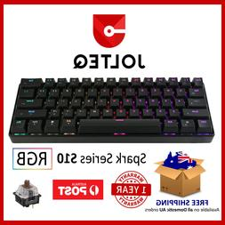 Compact Mechanical Gaming Keyboard 60% TKL with Brown RGB Sw
