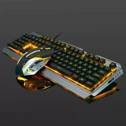 Computer Desktop Gaming Keyboard Mechanical Feel Led Light B