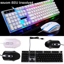Computer Desktop Gaming Keyboard Mechanical Feel Led Light B