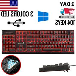 computer desktop gaming keyboard mechanical feel led