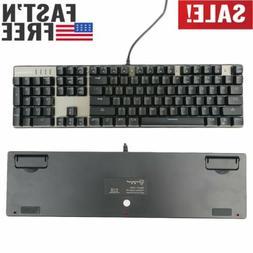 Computer PC Desktop Gaming Keyboard Mechanical Feel Led Ligh
