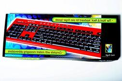 Fast Finger Computer Keyboard For The Hunt & Peck One Hand T