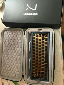 custom Tofu 60% keyboard gat inkblacks,brass plate, durock s