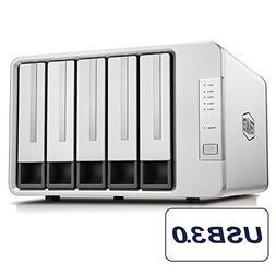 TerraMaster D5-300C USB3.0 Type C 5-Bay RAID Enclosure Suppo