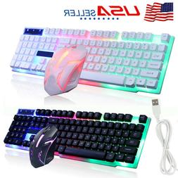 Desktop Computer Gaming Keyboard and Mouse Mechanical Feel R