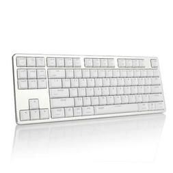 Extra-Thin Mechanical Keyboard Snow White Backlit USB Remova