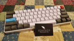 Feather Keyboards 60% Lubed Kailh Brown Mechanical Keyboard