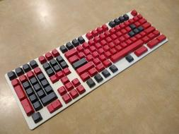 full size compatibility black red mechanical keyboard