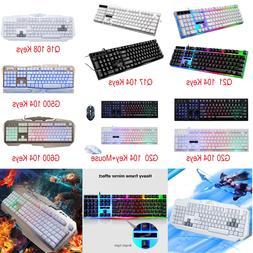 G500 104Key 3-Color Backlit Gaming Keyboard Mechanical Feel